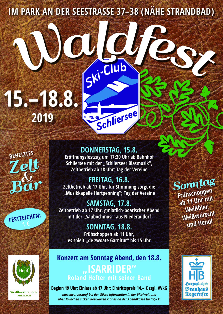 52. Traditionellen Waldfest vom 15.-18. August 2019